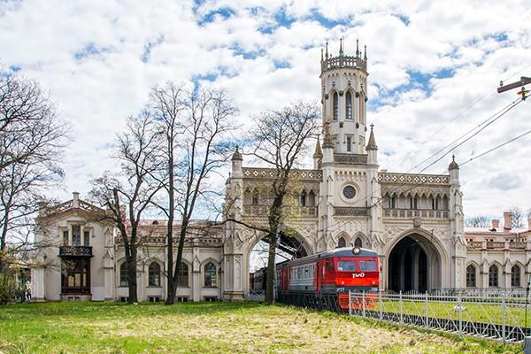 Вокзал на станции Новый Петергоф
